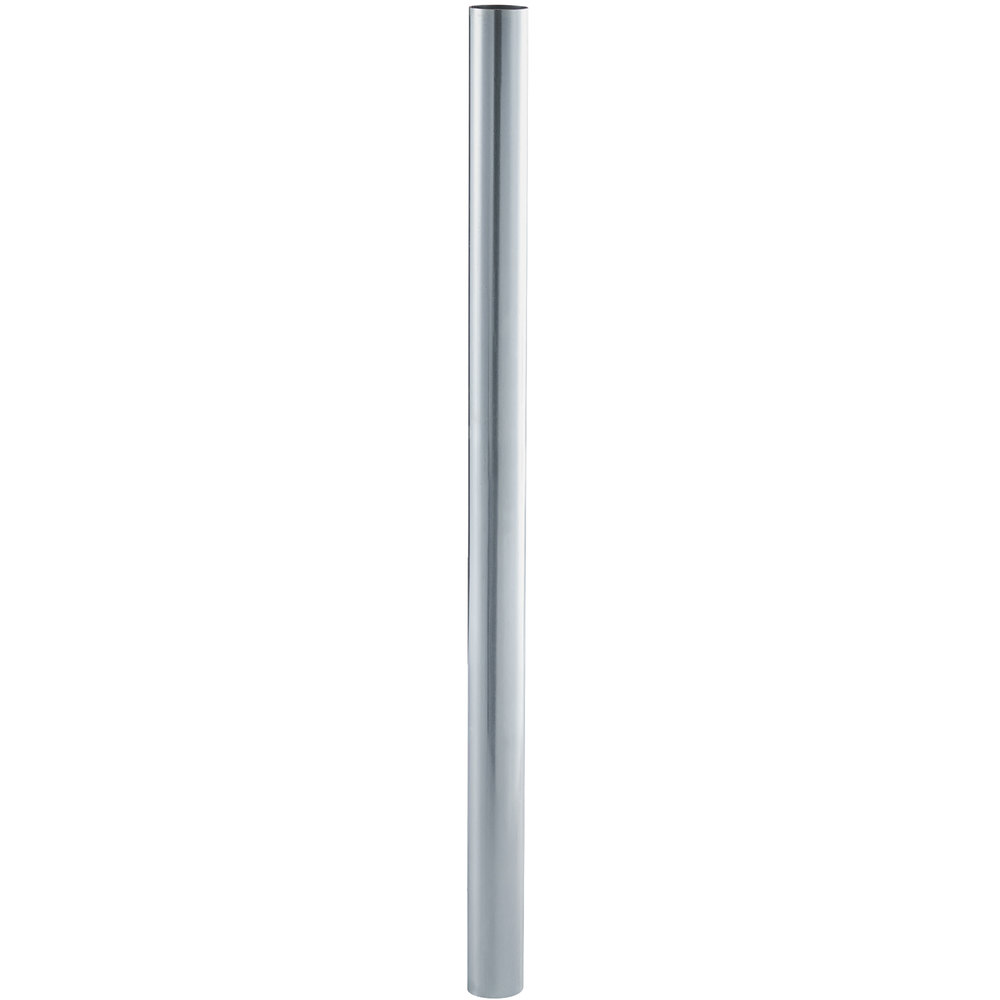 Regency 28 inch Replacement Galvanized Steel Leg for Work Tables - 5 inch Casters Required
