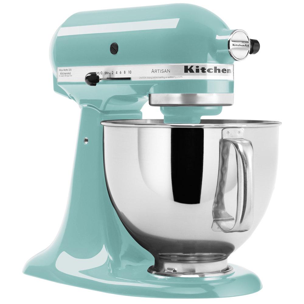 KitchenAid KSM150PSAQ Aqua Sky Artisan Series 5 Qt. Countertop Mixer