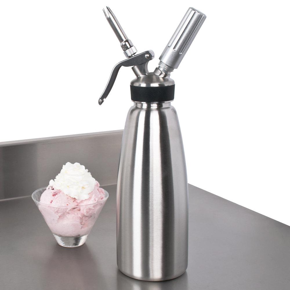Whip It Dispenser ~ Stainless steel liter whipped cream dispenser