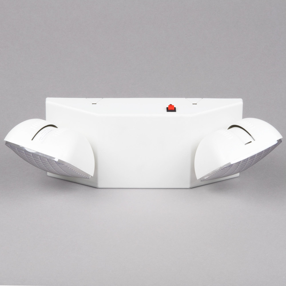 Emergency Lighting Unit With 2 Lights And Battery Backup