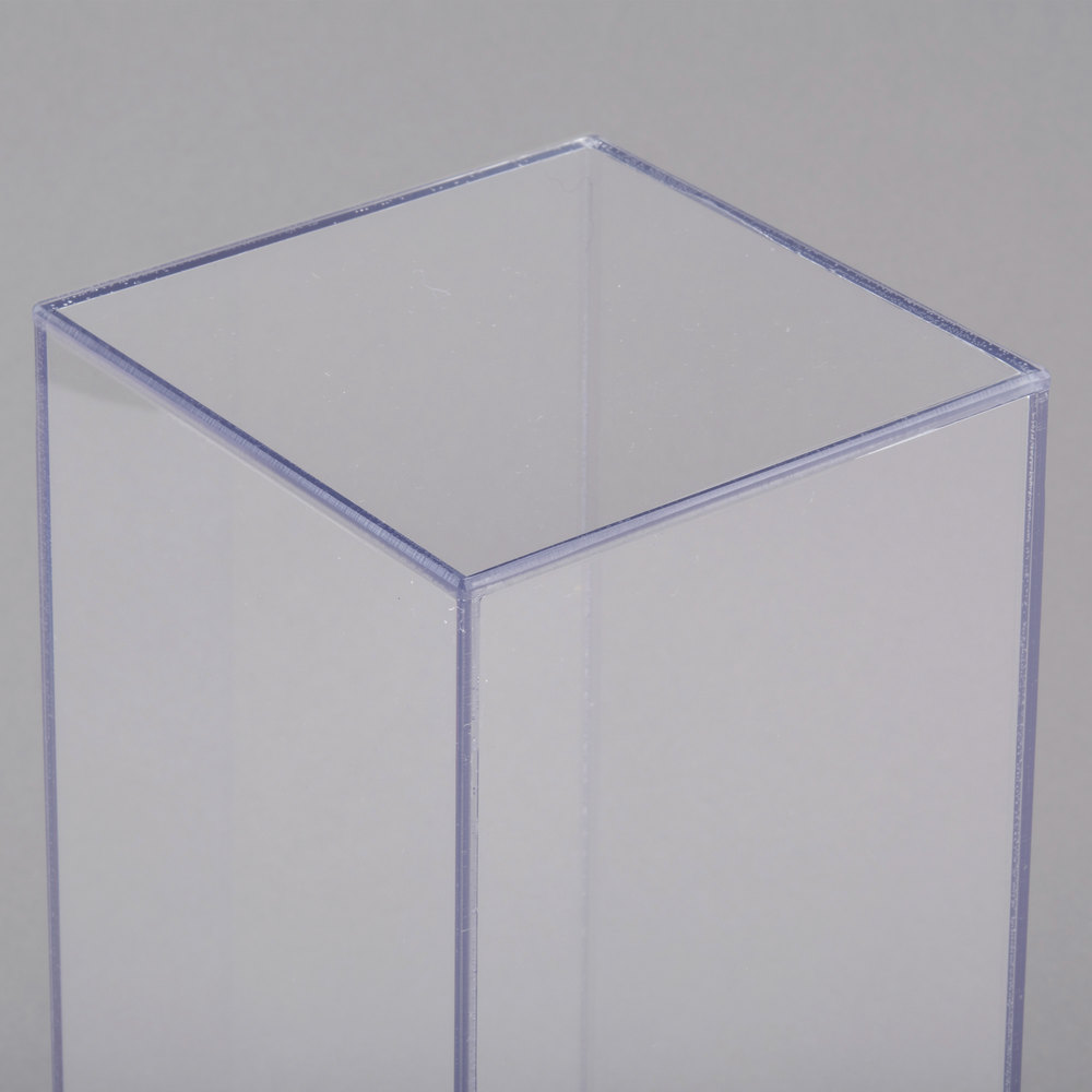Cal mil 879 12 5 x 12 square clear acrylic accent display vase image preview reviewsmspy
