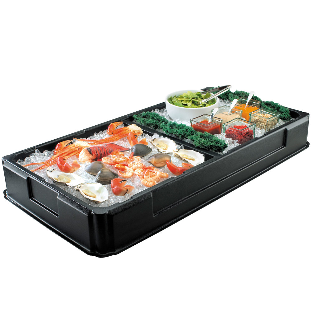 Cal Mil 1285 Ice Bin With Divider 48 1 2 Quot X 25 Quot X 6 Quot