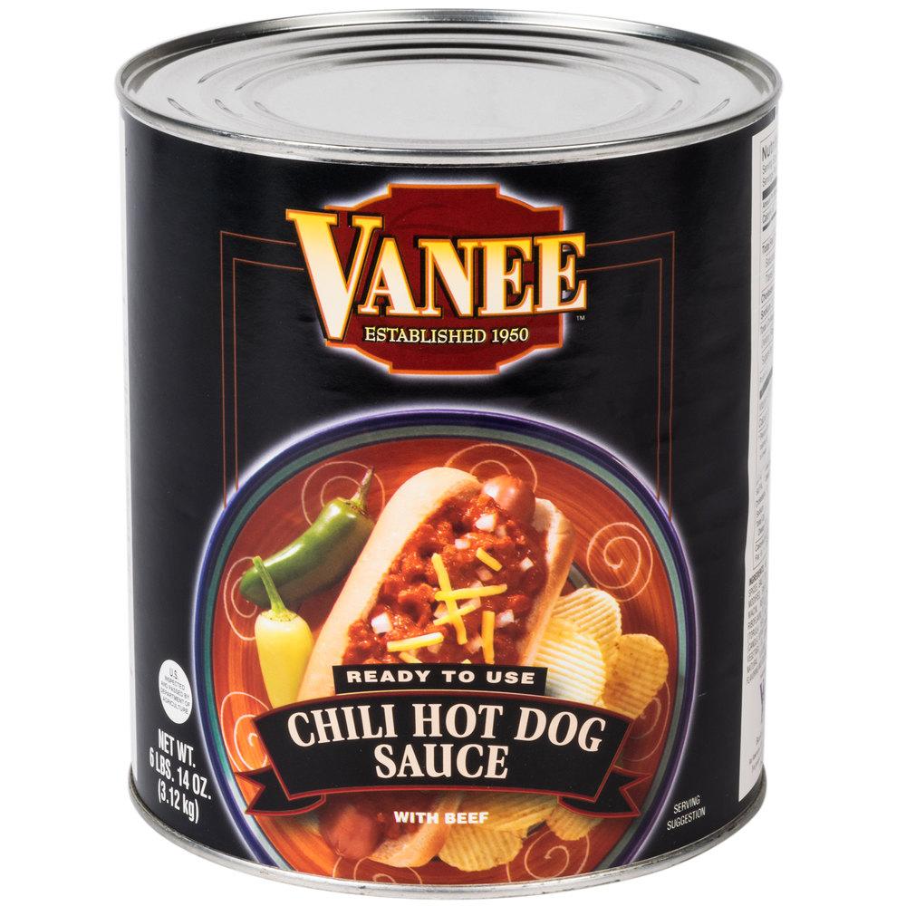 vanee 390i chili hot dog sauce 10 can. Black Bedroom Furniture Sets. Home Design Ideas