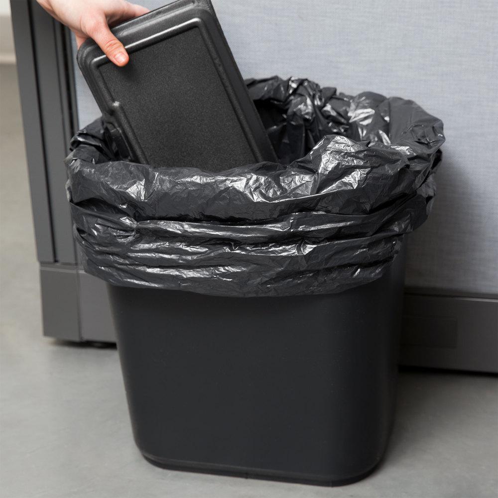 continental 2818bk 28 qt 7 gallon black rectangular wastebasket trash can. Black Bedroom Furniture Sets. Home Design Ideas