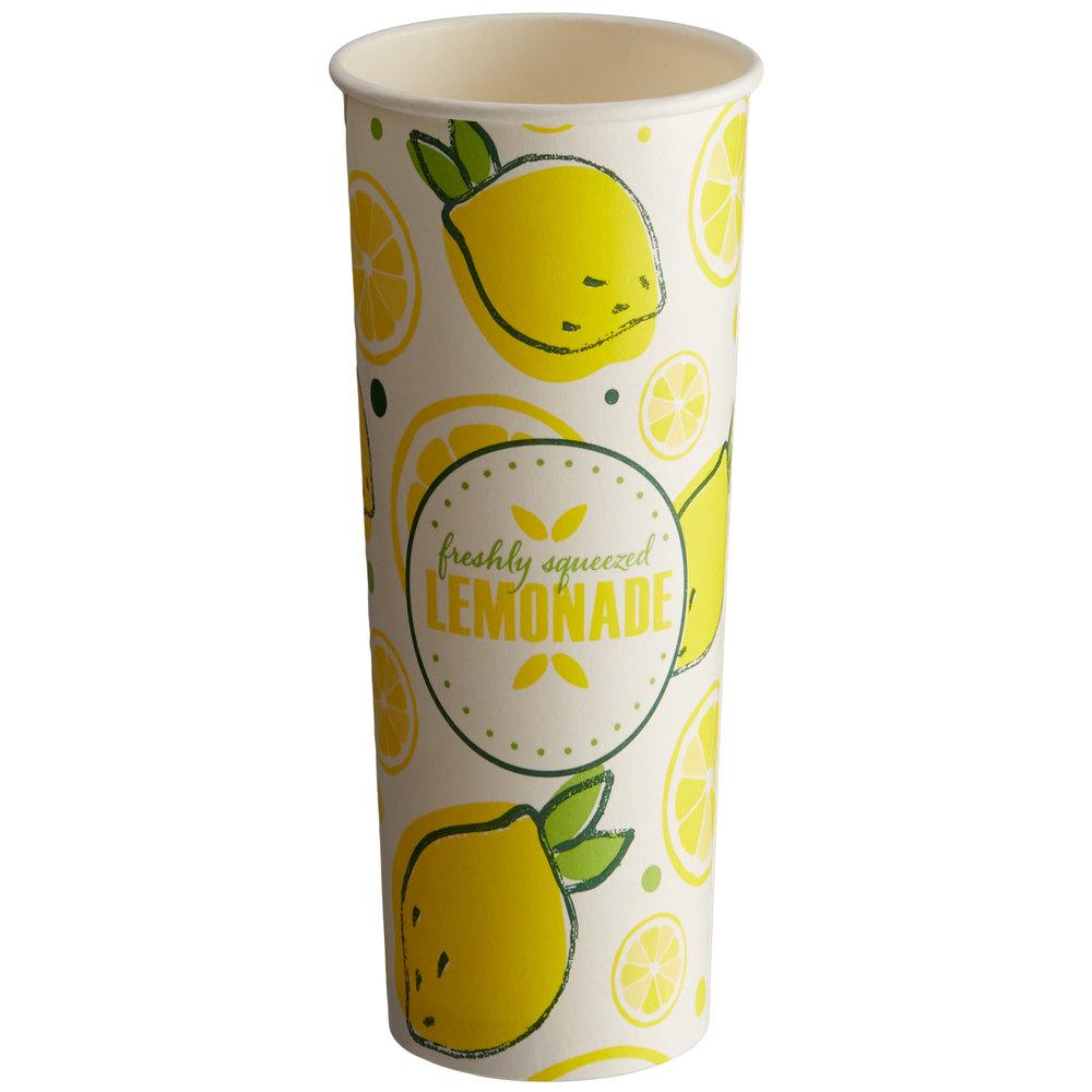 Carnival King 22 oz. Poly Paper Lemonade Cup - 40/Pack