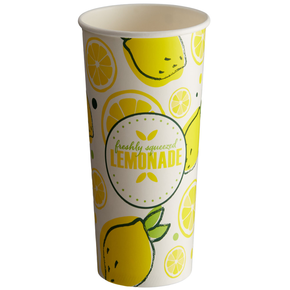 Carnival King 32 oz. Poly Paper Lemonade Cup - 500/Case