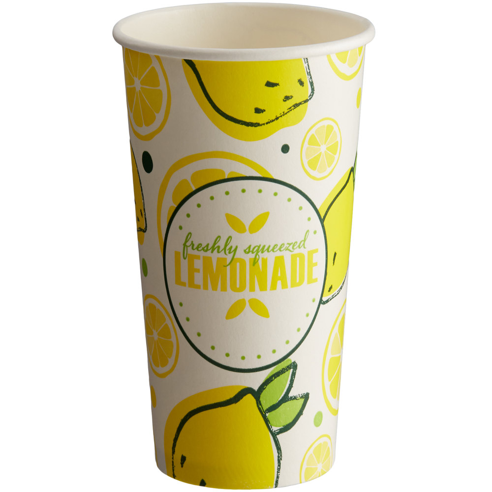 Carnival King 16 oz. Poly Paper Lemonade Cup - 1000/Case