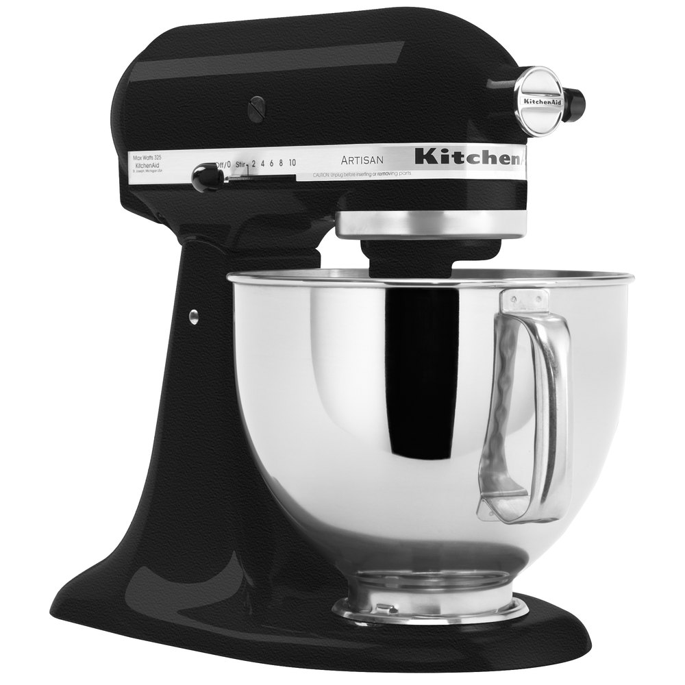 KitchenAid KSM150PSBK Imperial Black Artisan Series 5 Qt. Countertop Mixer.  Main Picture; Image Preview; Image Preview; Image Preview ...