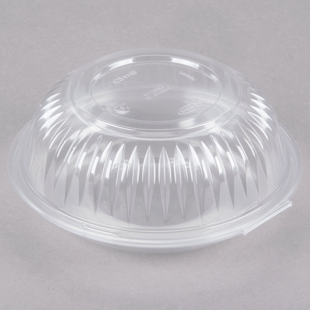 dart c24hbd presentabowls 24 oz clear hinged plastic bowl with dome lid 150 case. Black Bedroom Furniture Sets. Home Design Ideas