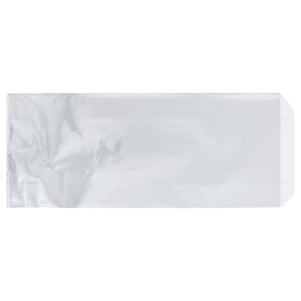 Carnival King 3 1/2 inch x 1 1/2 inch x 9 inch Unprinted Foil Hot Dog Bag - 1000/Case