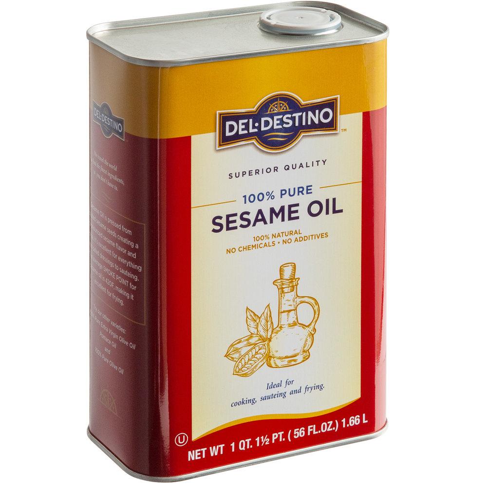 TIn of Del-Destino 100% pure sesame oil