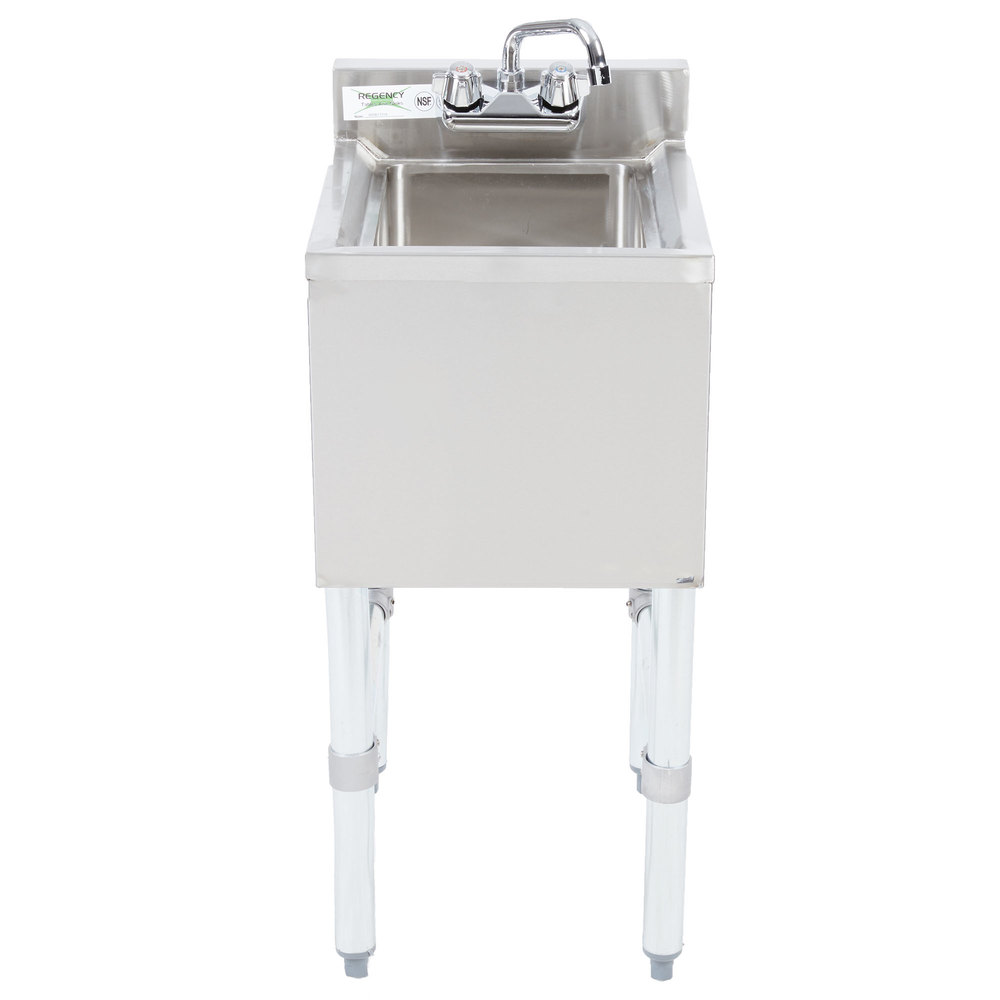 Regency 1 Bowl Underbar Hand Sink With Swivel Faucet   14 1/2 Inch X ...