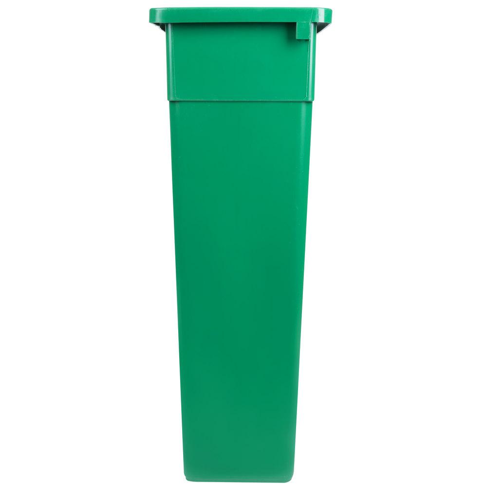 Continental 8322 2 23 Gallon Green Wall Hugger Slim