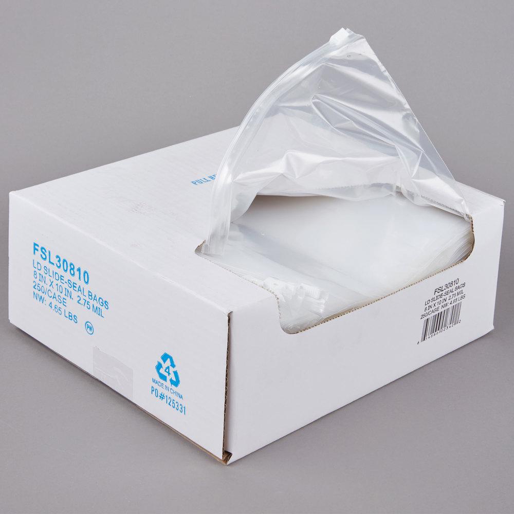 plastic food bag 8 x 10 slide seal 250 case. Black Bedroom Furniture Sets. Home Design Ideas
