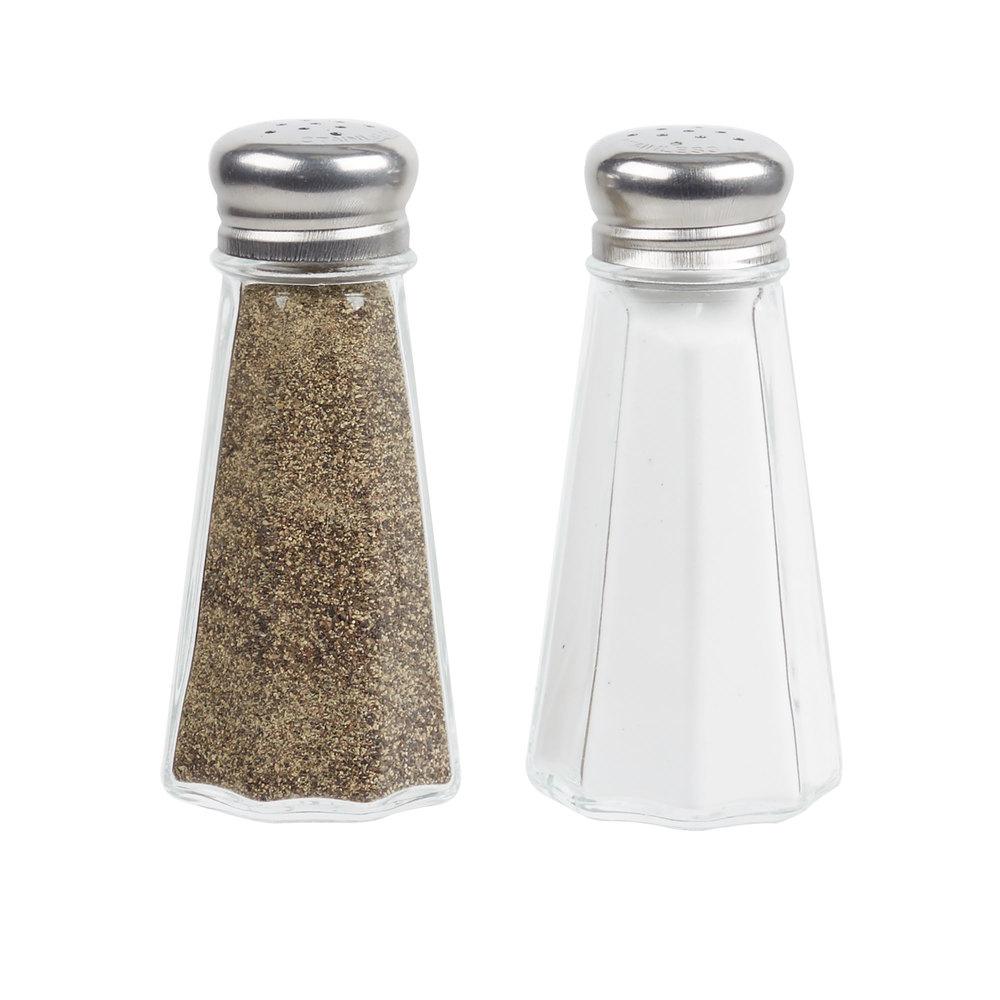 3 Oz Mushroom Top Paneled Salt And Pepper Shaker 12 Pack