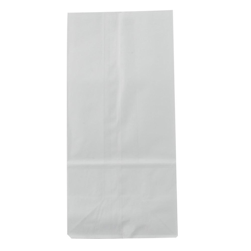 8 lb  White Paper Bag