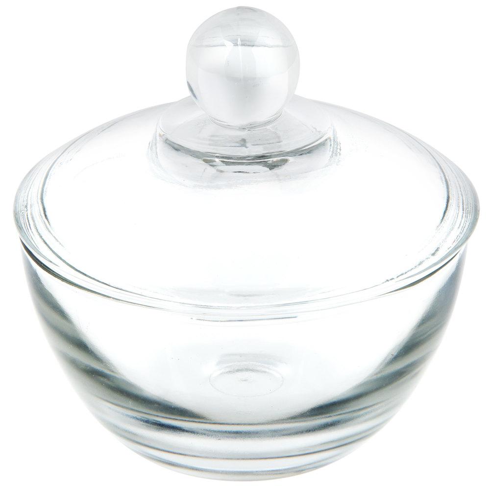 Anchor Hocking 64192B 8 oz. Glass Sugar Bowl with Lid - 4 ...