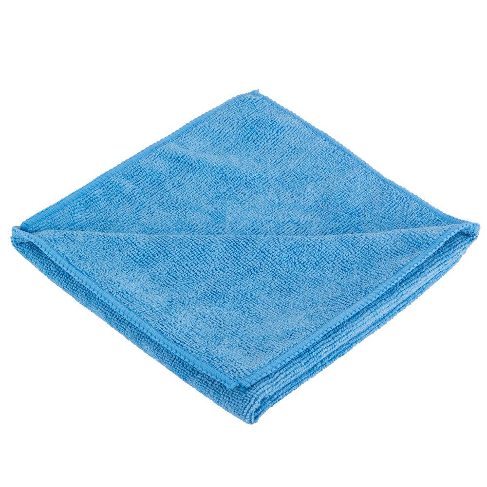 "Microfiber Cloth Dusting: 16"" X 16"" Blue Microfiber Cleaning Cloth"