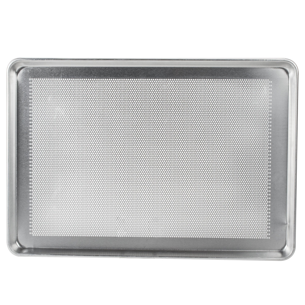 Sheet pans bun pans advance tabco 18 8p 26 perforated full size 18 gauge aluminum sheet pan greentooth Gallery
