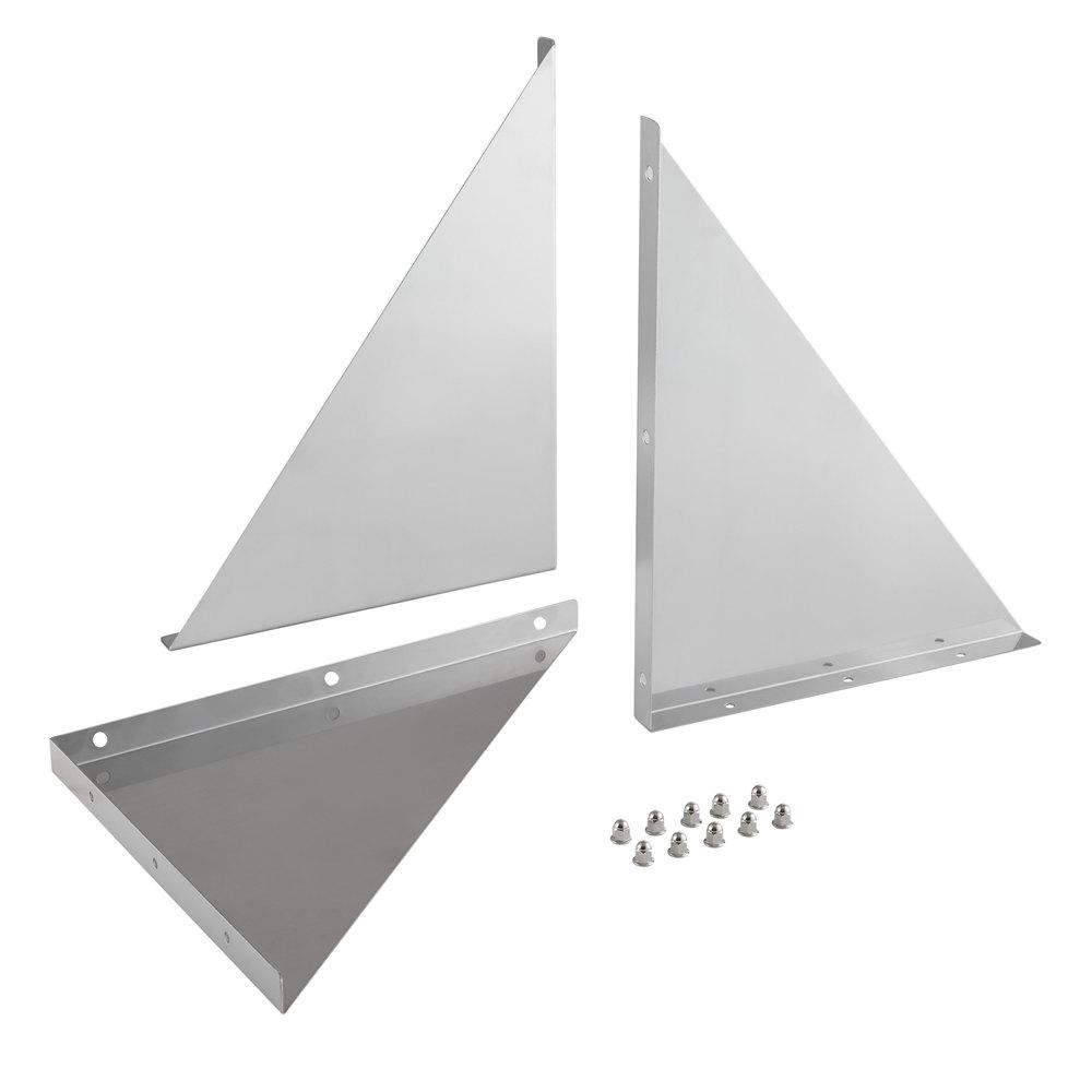 Regency Bracket and Hardware Kit for 18 inch Stainless Steel Wall Mount Shelves