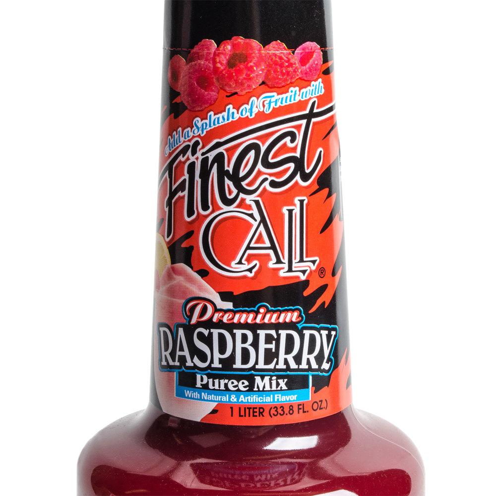 Finest Call Premium Raspberry Puree Drink Mixer 1 Liter