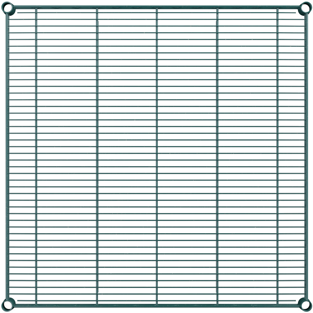 Regency 36 inch x 36 inch NSF Green Epoxy Wire Shelf