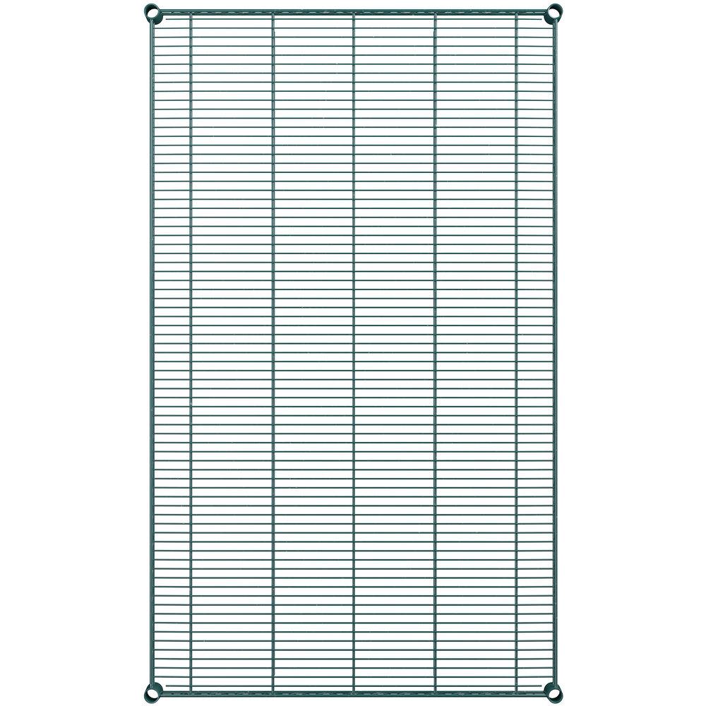 Regency 36 inch x 60 inch NSF Green Epoxy Wire Shelf