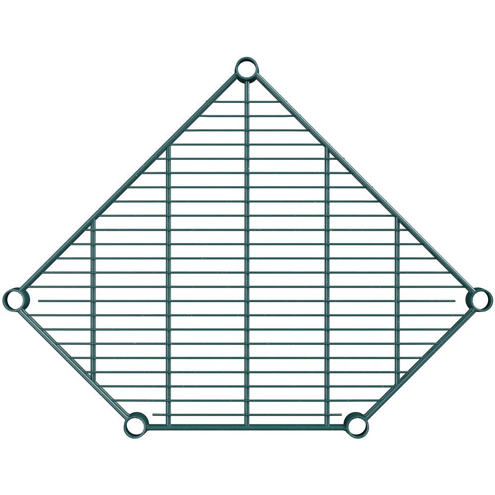 Regency 21 inch Deep NSF Green Epoxy Wire Pentagon Corner Shelf