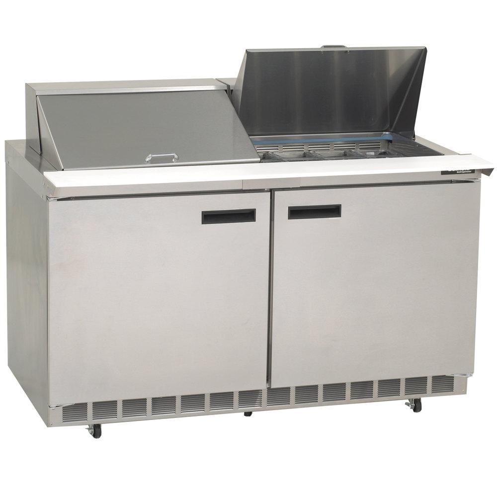Delfield 4460N-24M 60 inch 2 Door Mega Top Refrigerated Sandwich Prep Table