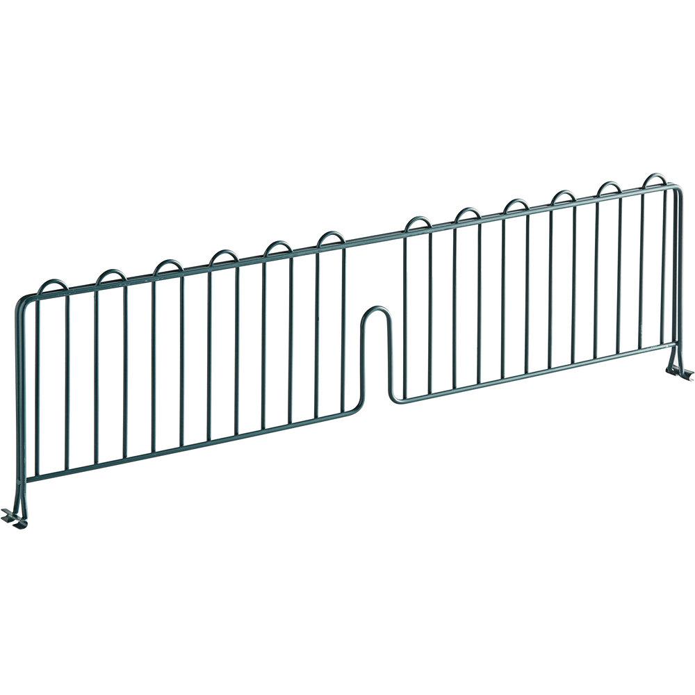 Regency 30 inch Green Epoxy Wire Shelf Divider for Wire Shelving - 30 inch x 8 inch