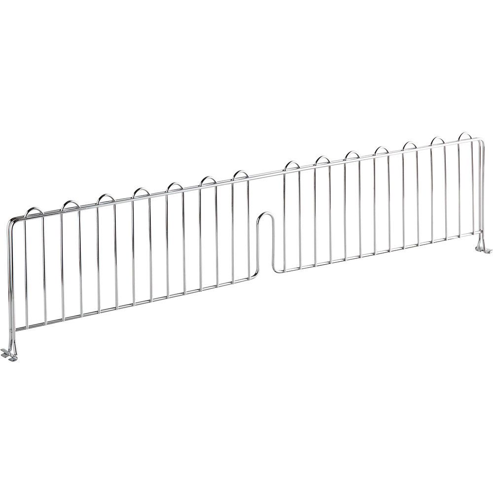 Regency 36 inch Chrome Wire Shelf Divider for Wire Shelving - 36 inch x 8 inch