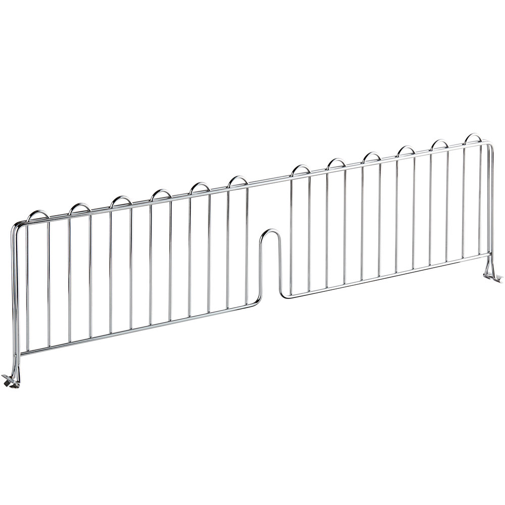 Regency 30 inch Chrome Wire Shelf Divider for Wire Shelving - 30 inch x 8 inch