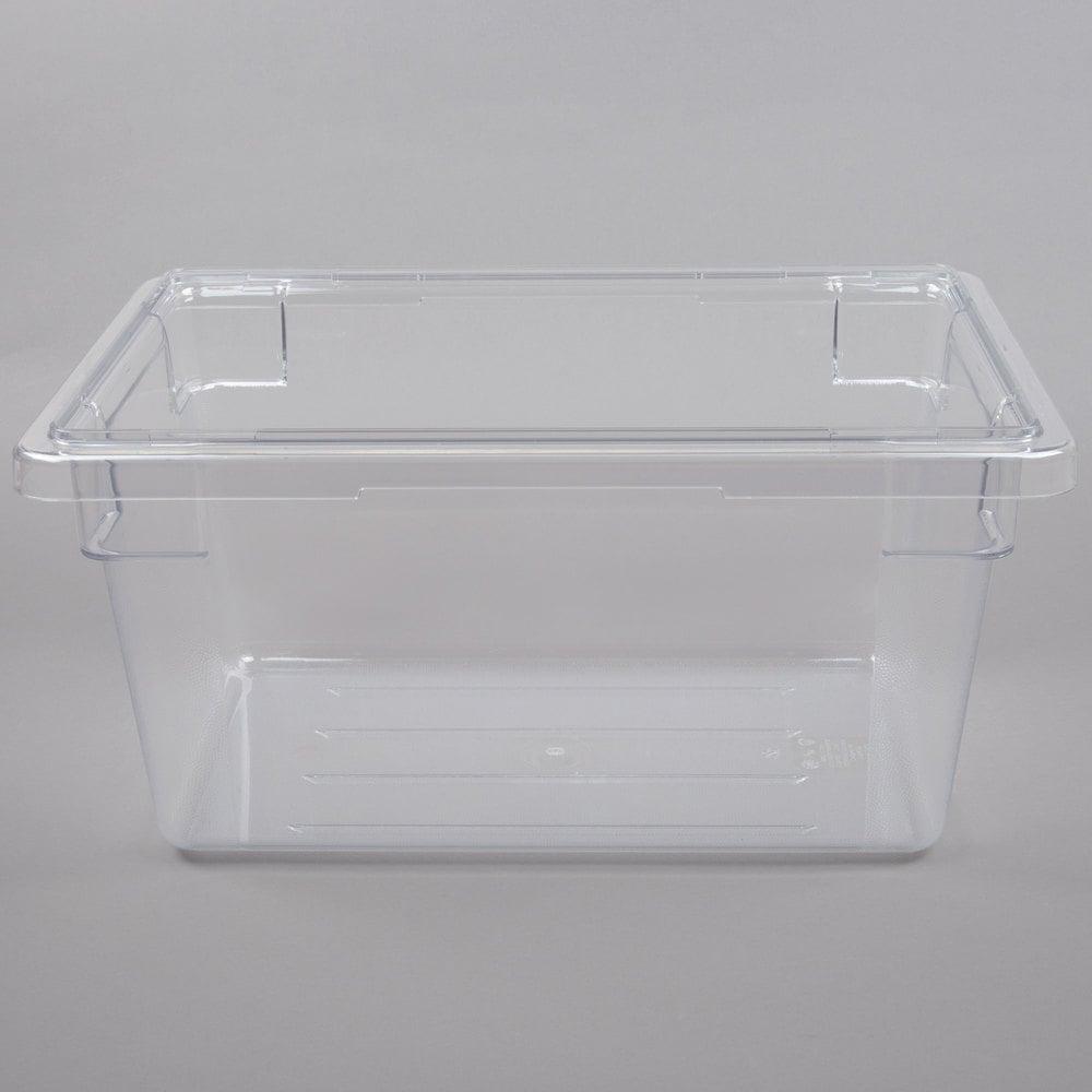 cambro 12189cw135 camwear 12 x 18 x 9 clear food storage box. Black Bedroom Furniture Sets. Home Design Ideas