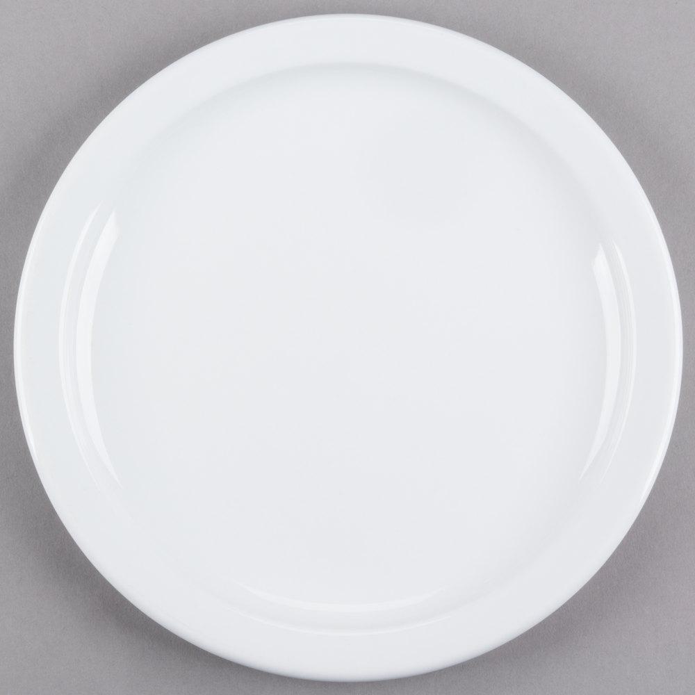 Cambro MDSPLT9148 Classic White Ceramic Ware 9 inch Ceramic Plate - 24/Case ... & Insulated Plates   WebstaurantStore