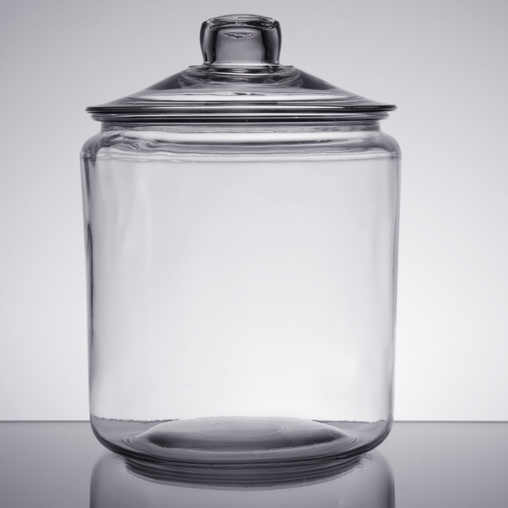 Anchor Hocking 69349T 1 Glass Gallon Jar with Glass Cover