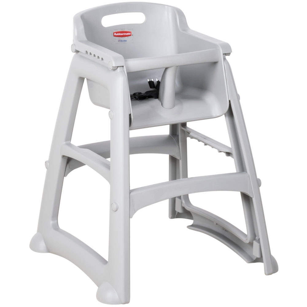 Great Rubbermaid FG780608PLAT Platinum Restaurant High Chair Without Wheels    Assembled. Main Picture ...