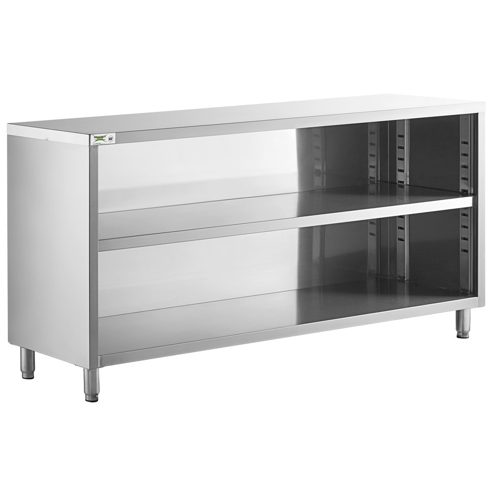 Regency 18 inch x 72 inch 18 Gauge Type 304 Stainless Steel Dish Cabinet with Adjustable Midshelf