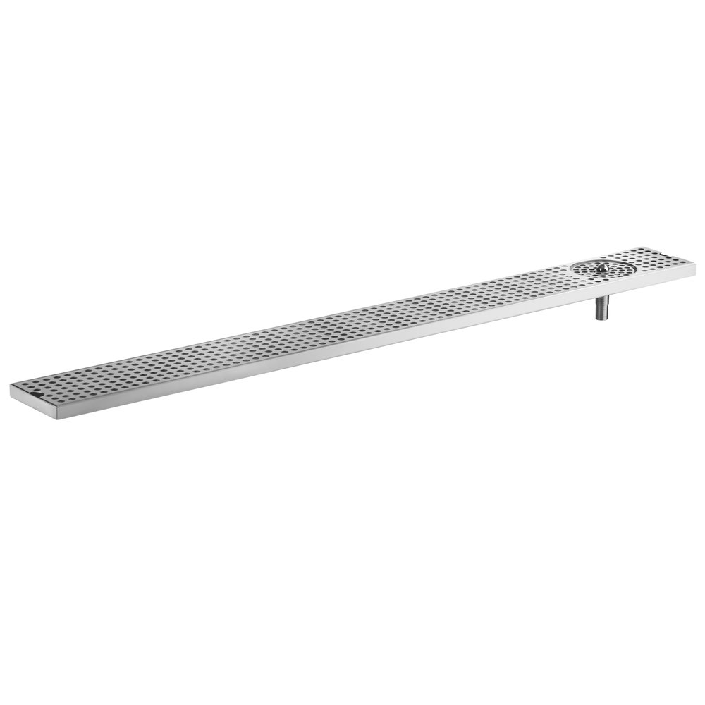 Regency 600BDR45SR 45 inch Beer Drip Tray Surface Mount with Rinser