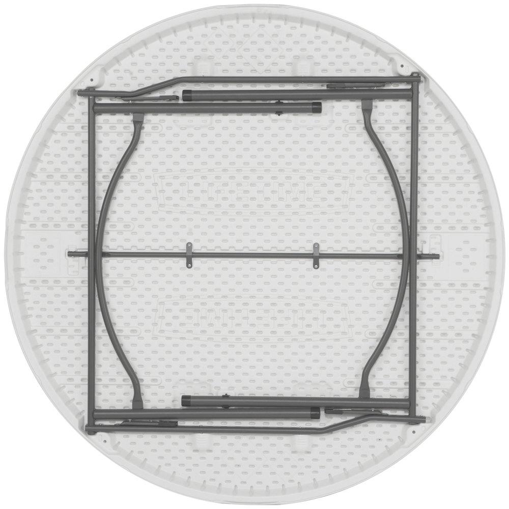 lifetime round folding table 60 plastic white granite 4 pack 480301. Black Bedroom Furniture Sets. Home Design Ideas
