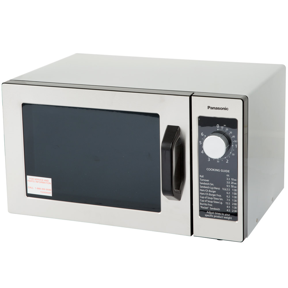 Panasonic NE-1025 Stainless Steel Commercial Microwave Oven with ...