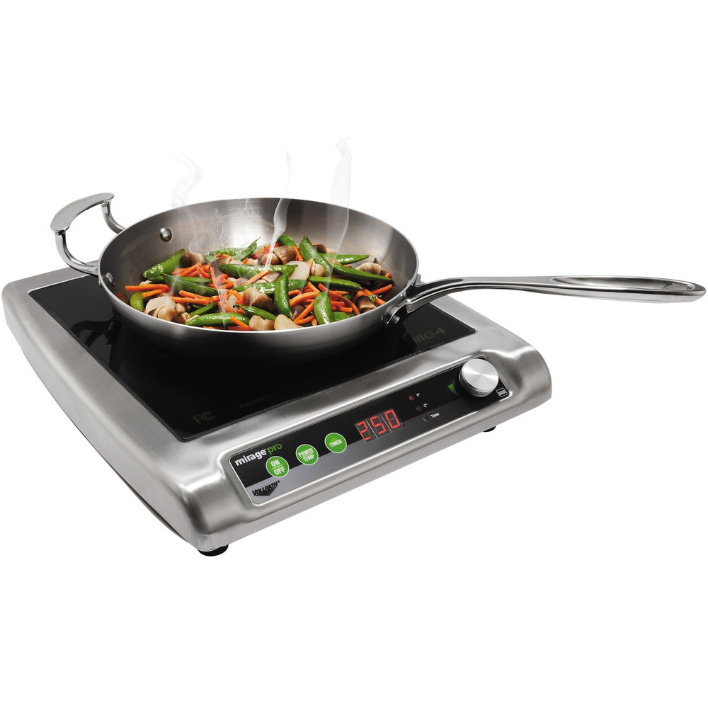 Vollrath 59500P Mirage Pro Countertop Induction Cooker - 120V, 1800W