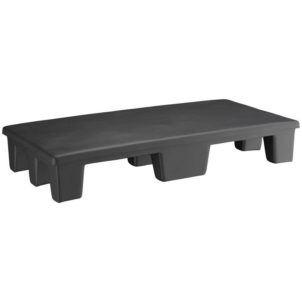 Regency 36 inch x 18 inch x 6 inch Black Plastic End Cap / Display Merchandiser - 1000 lb. Capacity