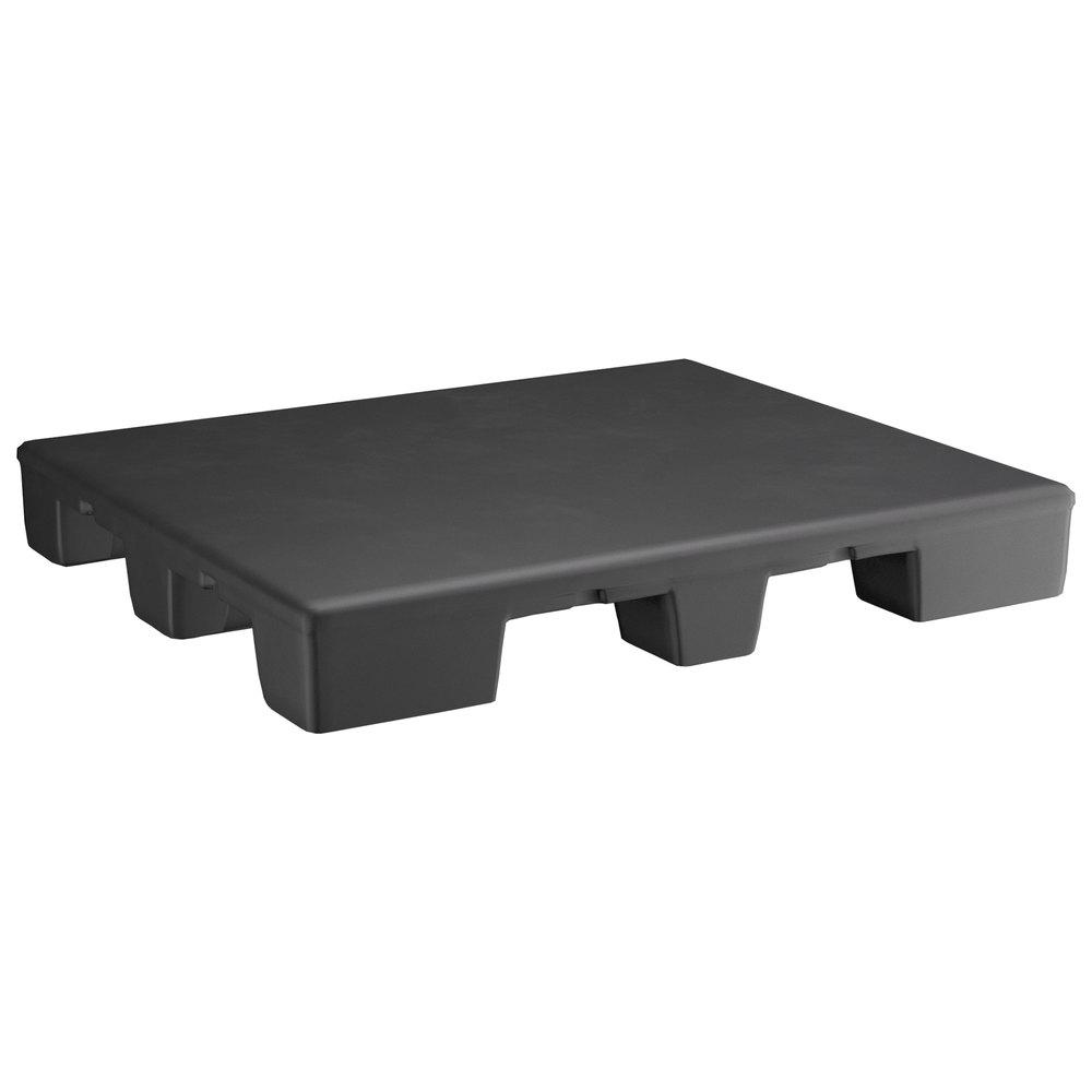 Regency 48 inch x 40 inch x 6 inch Black Plastic End Cap / Spot Merchandiser - 2000 lb. Capacity