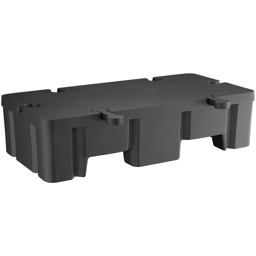 Regency 48 inch x 24 inch x 12 inch Black Plastic Display Base - 2000 lb. Capacity