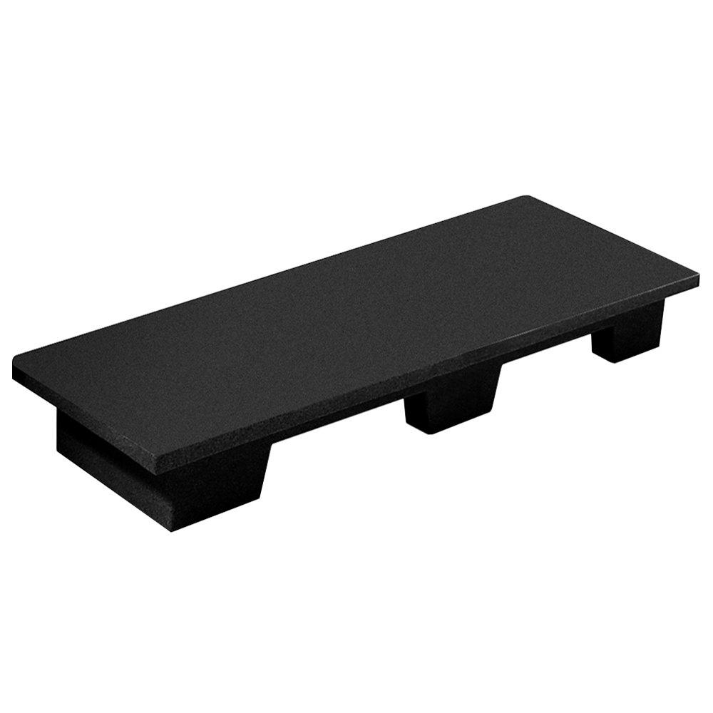 Regency 48 inch x 14 inch x 6 inch Black Plastic Beverage Base / Spot Merchandiser - 500 lb. Capacity
