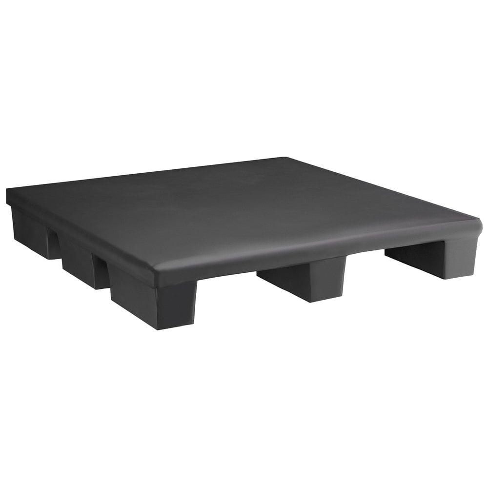 Regency 36 inch x 36 inch x 6 inch Black Plastic Pallet Base / Spot Merchandiser - 1000 lb. Capacity