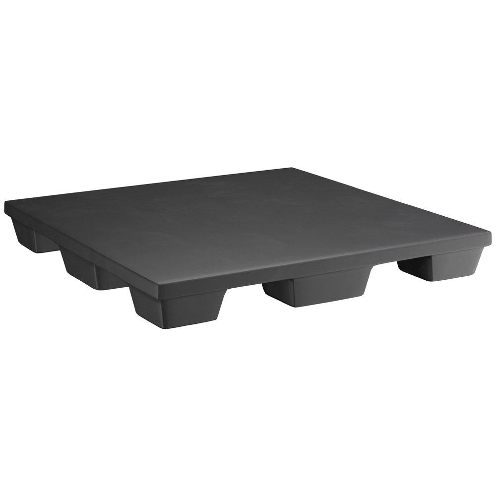 Regency 48 inch x 48 inch x 6 inch Black Plastic Display Base / Spot Merchandiser - 2000 Capacity