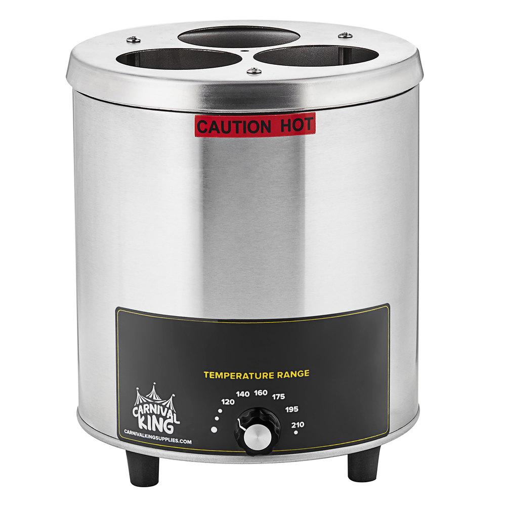 Carnival King RBW-35 Triple 16-24 oz. Sauce / Topping Bottle Warmer - 550W, 120V