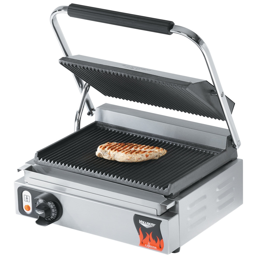 514606 vollrath 40794 grooved top & bottom panini sandwich grill 16 1 8  at bayanpartner.co