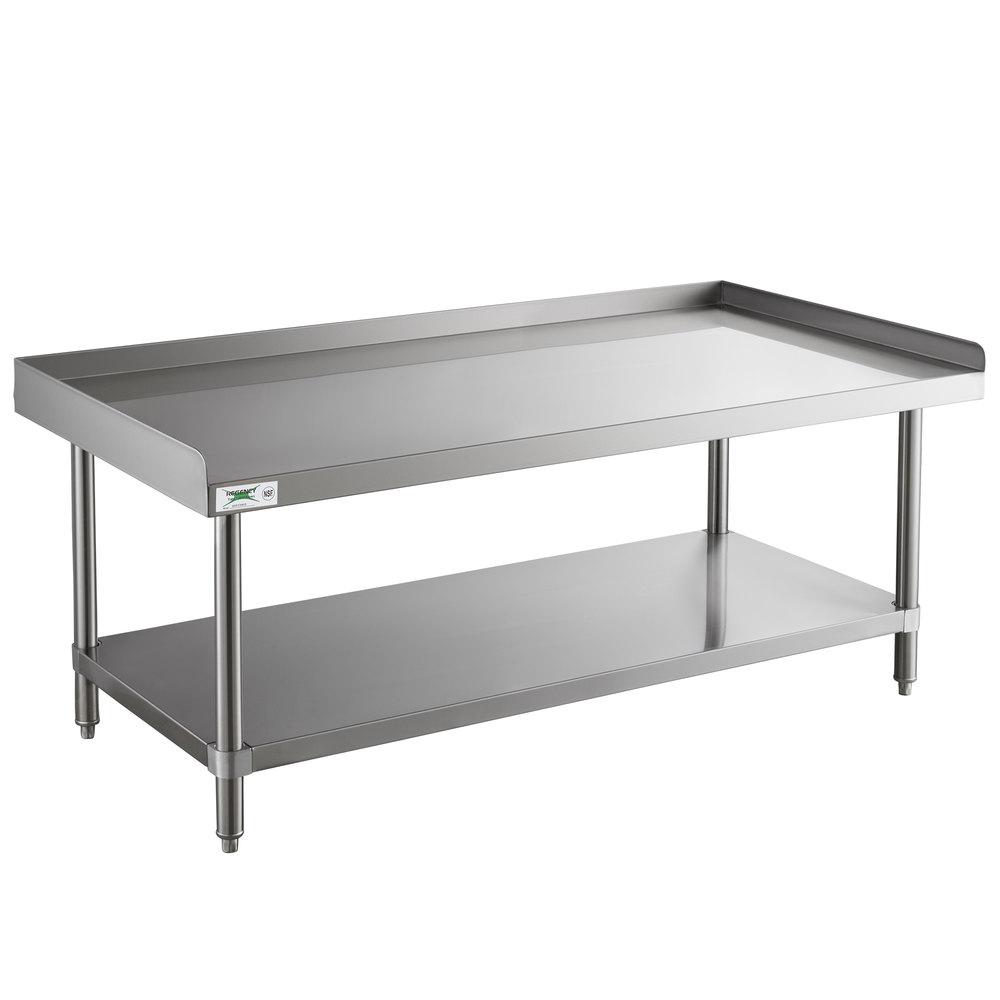Regency 30 inch x 60 inch 14-Gauge Stainless Steel Equipment Stand With Galvanized Undershelf